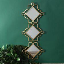 Wall Mounted Casablanca Triple Framed Gold Hanging Mirror Moroccan Decor