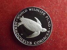 * WWF Silbermedaille (1000) ca.30g.-40mm * Lederschildkröte