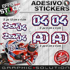 Adesivi Stickers kit 04 DOVIZIOSO ANDREA AD MOTO GP DUCATI DESMODOVI TOP QUALITY