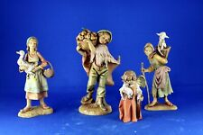Lot of 4 Depose Italy Fontanini Christmas Figures Angel Women with Lamb & goose