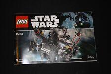 Notice - Lego STAR WARS - 75183 - La transformation de Dark Vador