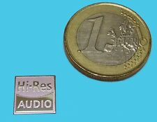 HI-RES AUDIO  METALISSED CHROME EFFECT STICKER LOGO AUFKLEBER 10x10mm [726]