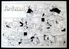 """FERD'NAND"" ORIGINAL SUNDAY COMIC STRIP BY HENRIK REHR 2002"