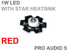 2x 1w Red OR Blue LED Chip with STAR Heatsink 660nm & 440nm (2 pcs) High Power
