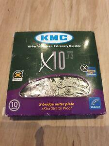 KMC X10-73 Silver 10 Speed Bike Bicycle Chain 114l