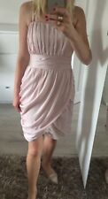 H&m Eur38 Uk8 Uk10 Dress Straight Pencil Nude Salmon Pink Fitted Mini £45