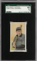 Rare 1909-11 T206 Glenn Liebhardt Sweet Caporal 350 Cleveland SGC 60 / 5 EX