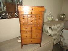 meuble de metier  Layette d'horloger en bois 24 tiroirs