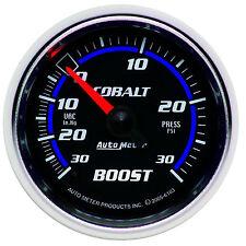 """Auto Meter Cobalt Mechanical Boost / Vacuum Gauge 2-1/16"""" (52mm) 30 Psi"""