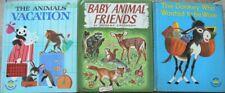 3 Vintage Wonder Books ~ The Animals' Vacation, Baby Animal Friends, Donkey Who
