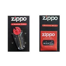 Zippo Lighter Genuine Wick+Flints Made in USA