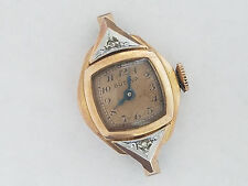 Vintage Bulova Rose 14k Gold Filled Diamond Case 17j Watch 6AH Wristwatch - 3597