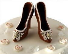 Handmade Milk Chocolate Shoes Cake Birthday Set  Cake Topper Decoration.