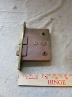 VTG Antique Corbin Mortise Lock Brass Face Double Security Privacy Jack n Jill