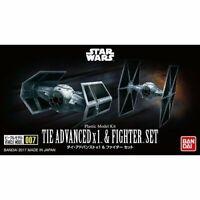 BANDAI Star Wars VEHICLE MODEL 007 TIE ADVANCE x1 / FIGHTER SET Model Kit
