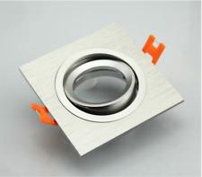 Lot de 2 Spots carré encastrable/orientable ALUMINIUM GU10 LED