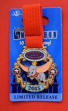 Disneyland Disney Run DUMBO Double Dare Medal 2015 Marathon LR Pin with Ribbon