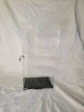4 Shelf Clear Display Acrylic Case 12 X 85 X 24 Lock Tower Rotating Spinner