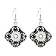 NEW 12MM silver color Drill Earrings Fit For Noosa Charm Snap Button N32
