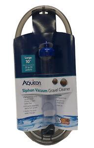 Aqueon Siphon Vacuum Aquarium Gravel Cleaner Large 10'' 20 to 55 Gallons