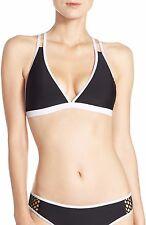 Zella Mesh Racerback Bikini Top ONLY Black & White Size XL