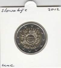 Slowakije 2 euro 2012 UNC : 10 Jaar Euro munt