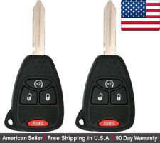 2x New Replacement Keyless Entry Remote Control Key Fob For Chrysler Dodge Jeep Fits 2005 Durango