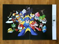 2009 Official Mega Man 9 / Metroid Prime 3 Corruption Wii Double Sided Poster