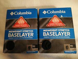 New Columbia Men's Omni-Heat Midweight Stretch Baselayer Long Sleeve Shirt 1X 5X