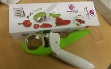 Kitchen Multi-function Chopper/Scissors for Fruit, Vegetable and Herbs - Green