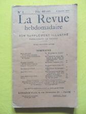 La Revue Hebdomadaire 1913 n° 1 Constantinople automobile aviation Condorcet