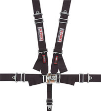G-FORCE 6000BK 5-Point SFI Racing Harness Racing Seat Belts Black SFI