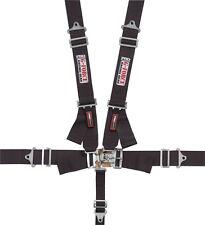 G-FORCE 6000BK 5-Point SFI Racing Harness Racing Seat Belts Black SFI