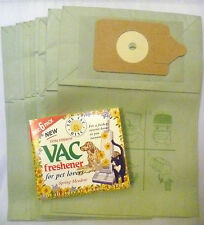 10 PAPER BAGS FIT NUMATIC HENRY DOUBLE LAYER VACUUM BAGS + 6 VACUUM FRESHENERS