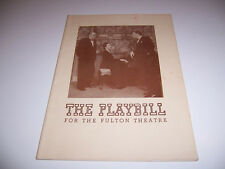 1944 FULTON THEATRE PLAYBILL- THE SEARCHING WIND - CORNELIA SKINNER KING DIGGES