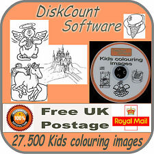 OVER 27,500 KIDS COLOURING IMAGES in over 15,000 files - CD