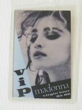 MADONNA  Laminated VIP Backstage Tour Pass (Like A Virgin 1985/6)