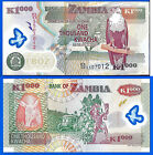 Zambia 1000 Kwacha 2011 Unc Polymer Africa Banknote Aigle Free Shipping World