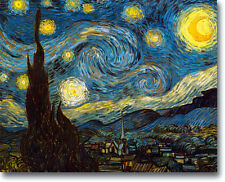 Van Gogh STARRY NIGHT 20 x 16 Stretched Canvas Giclee Art Repro Print