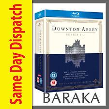 DOWNTON ABBEY SEASON SERIES 1, 2, 3 & 4 + Christmas Special Blu ray Box Set RB