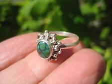 925 Silver Tibetan Turquoise Ring  jewelry Nepal Size 8.5 US UN