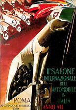Art Poster International Automobile Rome Italy Italia 1929 Car Show   Print