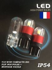 2 x T10 W5W LED 2 SMD 3030 - 150 Lm Blanc 6000k 12V 0,75W Compacts IP54 Flip