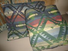 DAN RIVER BLUE TERRACOTTA SOUTHWESTERN AZTEC (2PC) TWIN COMFORTER & PILLOW SHAM