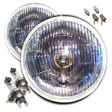 "7"" DOMED CLASSIC CAR SEALED BEAM H4 HALOGEN CONVERSION HEADLAMPS"
