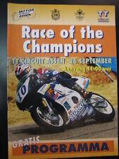 Programma boekje Race of the Champions 26 september 1999 TT Circuit Assen