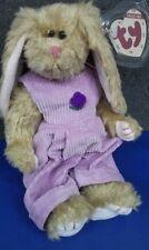 Ty Collectible 1993 Plush Rabbit Bunny~Iris~Corduroy Jumper~Attic Treasure~Nwt