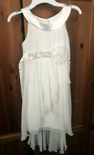 GUC Biscotti Layered Tulle Dress Flower Ribbon off-White Size 8 Holiday Party