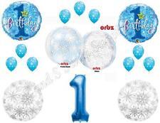 WINTER ONE-DERLAND ORBZ 1ST Happy Birthday Party Balloons Decoration Supplies