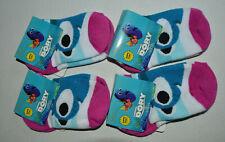 Lot 4 Pair Finding Dory Character Toddler Girls Socks Size 5-6.5 Shoe 5.5-8.5
